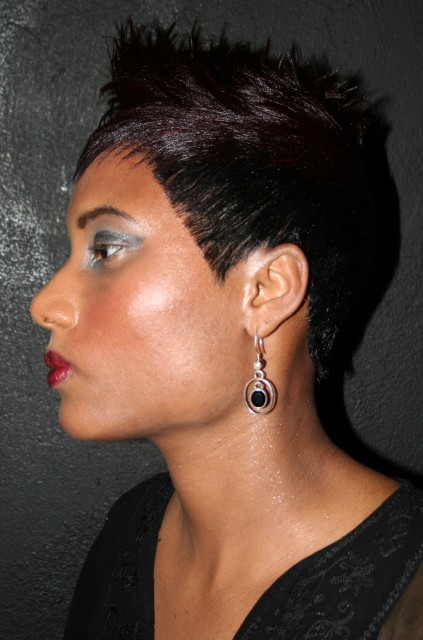Short Sharp Cut with a hint of purple