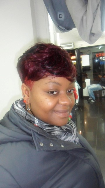 Funky Red Shaved Style (Front)