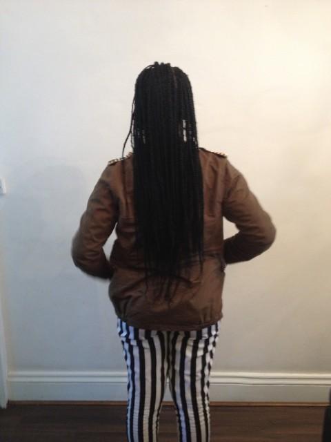 Retro box braids. (Back)