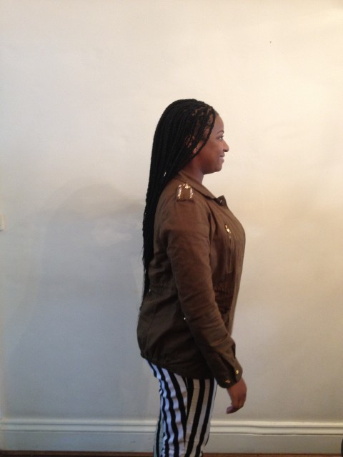 Retro box braids. (Side)