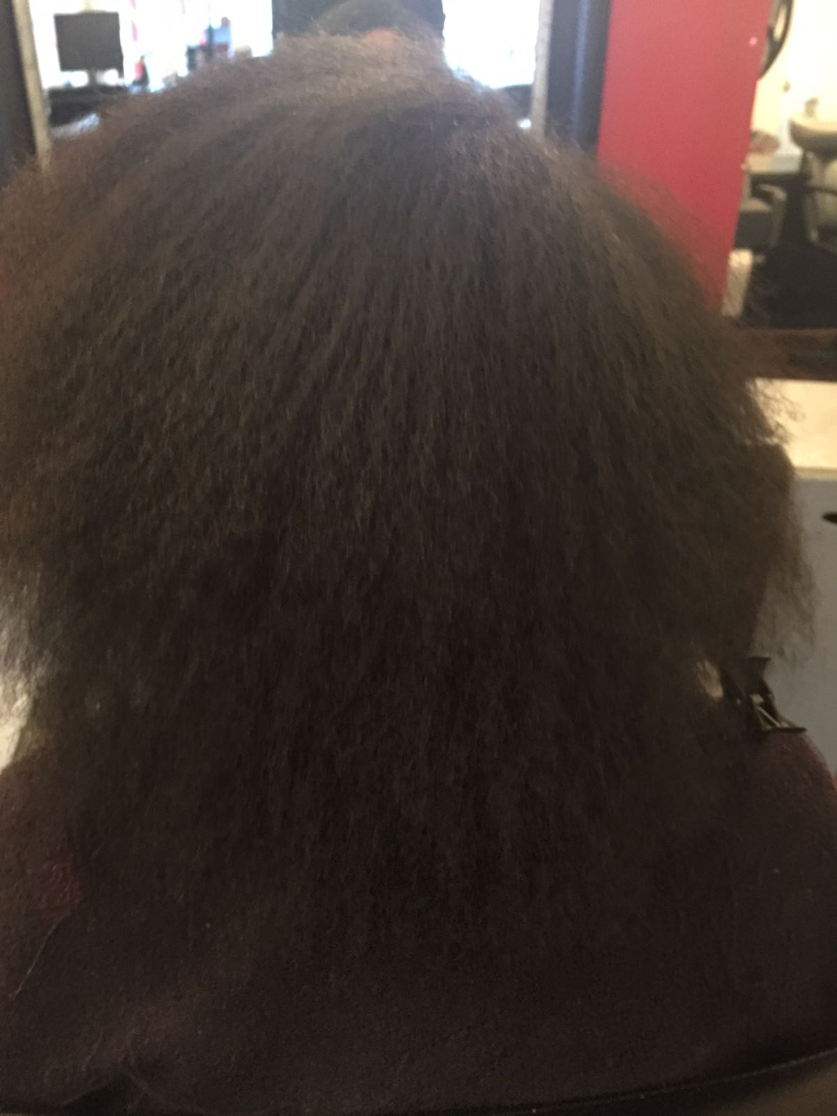Before Brazilian Keratin Treatment