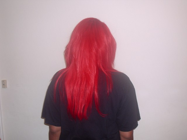Feathered Red Weave (Back)