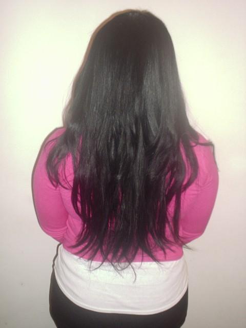 Full Head Long Style Weave (Back)