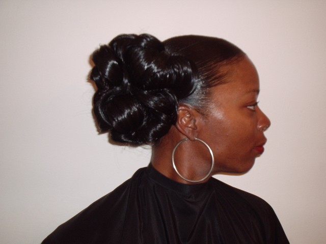 Wedding Hair Up Style - Side View