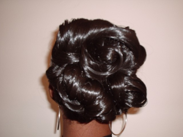 Wedding Hair Up Style - Back View