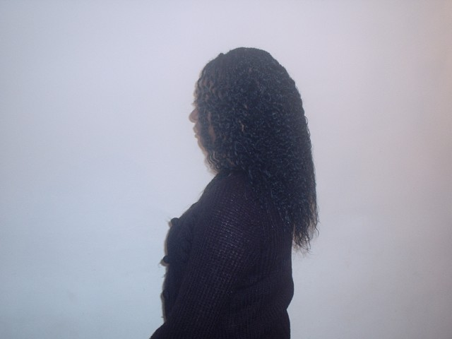Single Plaits with Curly Ends (Side)