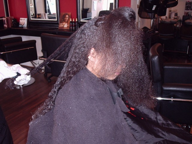 Brazilian Blow Out - Natural Mixed Race Hair (Before) 2