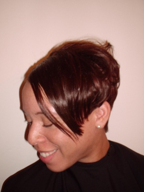 Short Full Head Weave - After