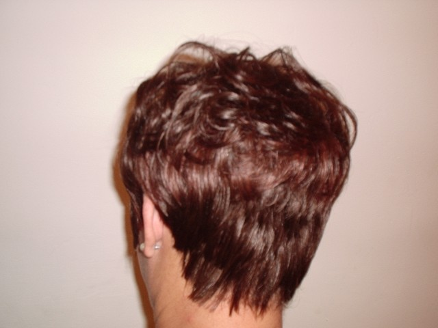 Short Full Head Weave - After (Back View)