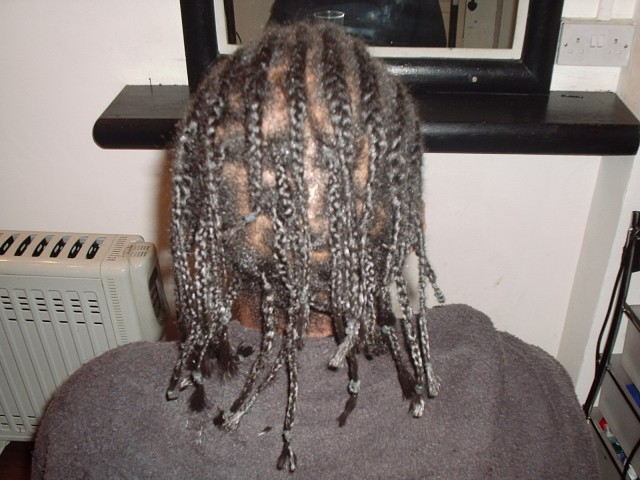 Academy Course - Front Cornrow/Single Braid with Extension by Student - after