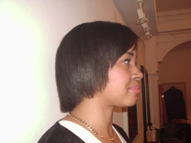 Brazilian Blow Out - Natural Afro Hair (After Side View)