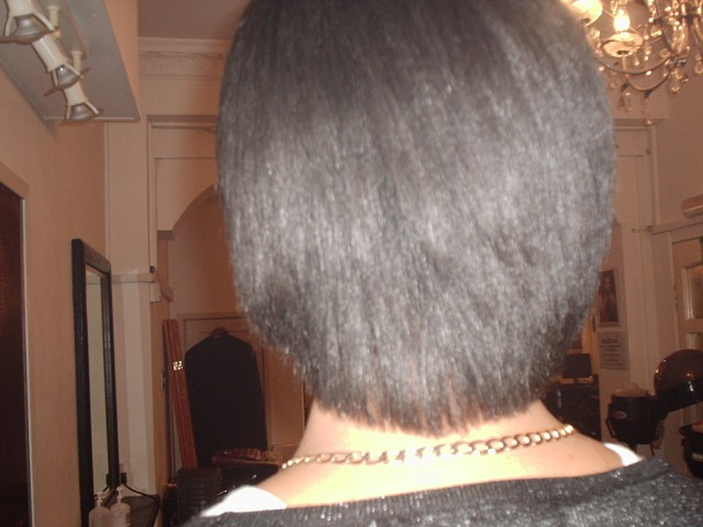 Brazilian Blow Out - Natural Afro Hair (After Back View)