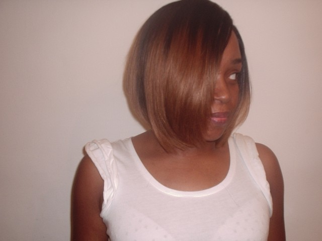 Weave Bob Cut Front View (After)