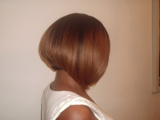 Weave Bob Cut Side View(After)