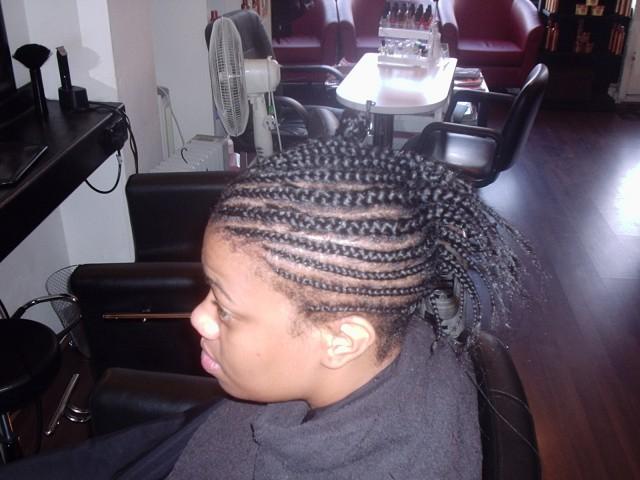 Full Head Shoulder Length Weave (Before)