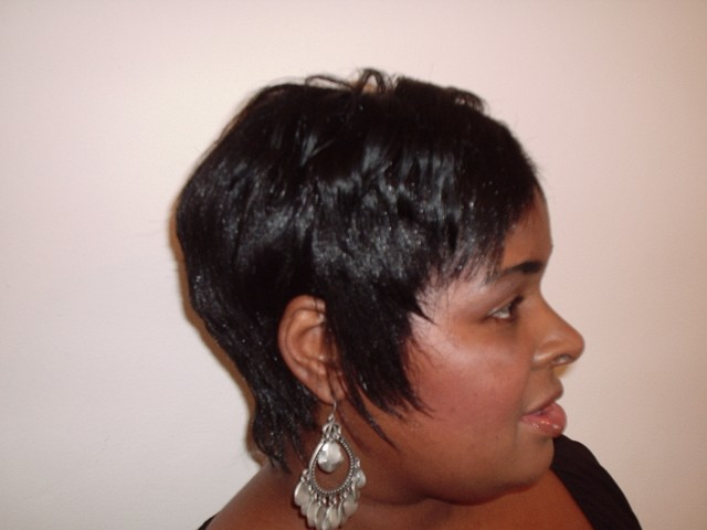 Short Hair Style (Side View)