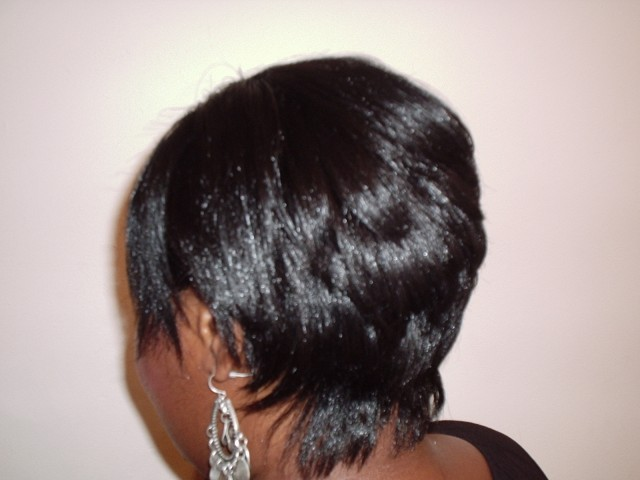 Short Hair Style (Back View)