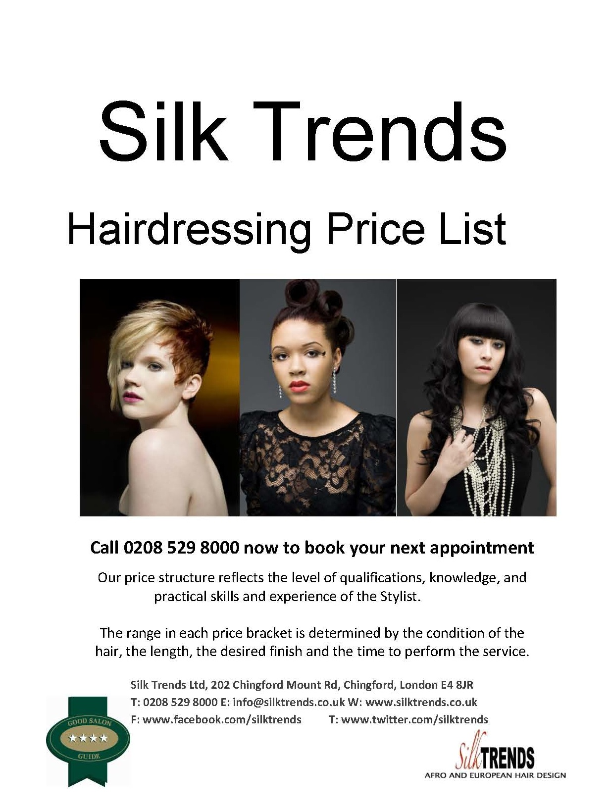 Silk Trends Price List