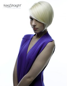 Short Blonde - Colour Protect KeraStraight Treatment