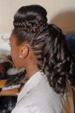 Natural Hair Creative Style 2
