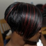 Sleek Short Style with a flash of Red 2